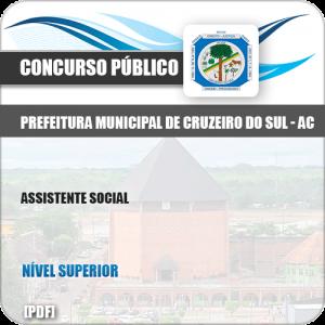 Apostila Concurso Pref Cruzeiro do Sul AC 2019 Assistente Social