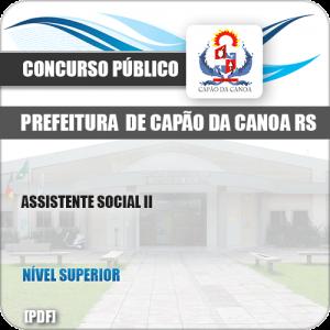 Apostila Pref Capão da Canoa RS 2019 Assistente Social II