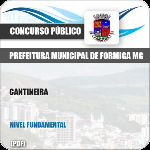 Apostila Concurso Público Pref Formiga MG 2019 Cantineira