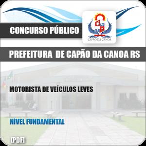 Apostila Pref Capão da Canoa RS 2019 Motorista Veículos Leves