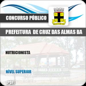 Apostila Concurso Pref Cruz das Almas BA 2019 Nutricionista