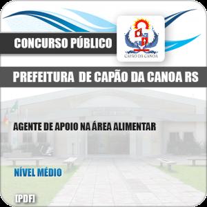 Apostila Pref Capão da Canoa RS 2019 Agente Apoio Alimentar