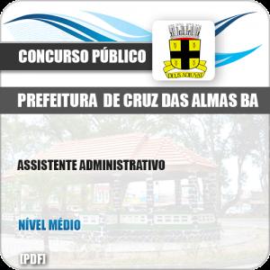 Apostila Pref Cruz das Almas BA 2019 Assistente Administrativo