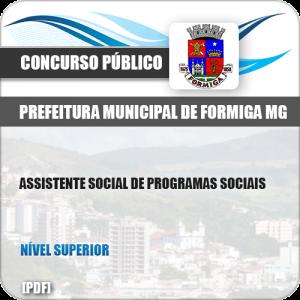 Apostila Pref Formiga MG 2019 Assistente Social Programas Sociais