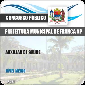 Apostila Concurso Público Pref Franca SP 2019 Auxiliar de Saúde