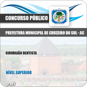 Apostila Concurso Pref Cruzeiro do Sul AC 2019 Cirurgião Dentista