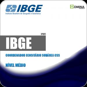 Apostila Concurso IBGE 2019 Coordenador Censitário Subárea CSS