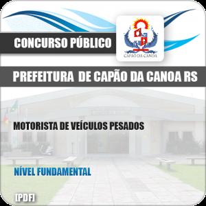 Apostila Pref Capão da Canoa RS 2019 Motorista Veículos Pesados