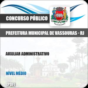 Apostila Concurso Pref Vassouras RJ 2019 Auxiliar Administrativo