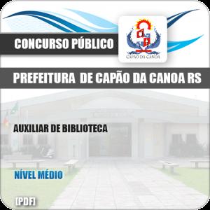 Apostila Pref Capão da Canoa RS 2019 Auxiliar de Biblioteca