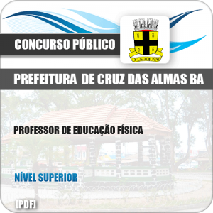Apostila Pref Cruz das Almas BA 2019 Professor Educação Física