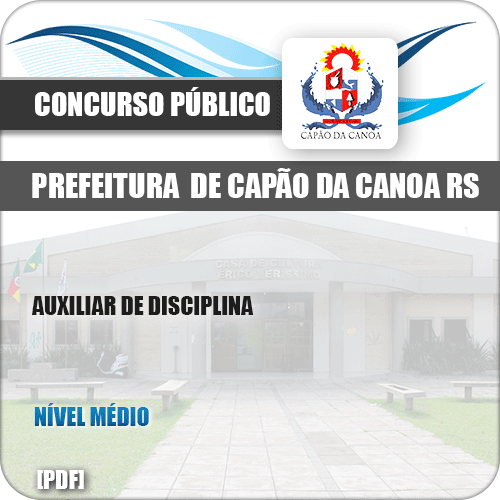 Apostila Pref Capão da Canoa RS 2019 Auxiliar de Disciplina