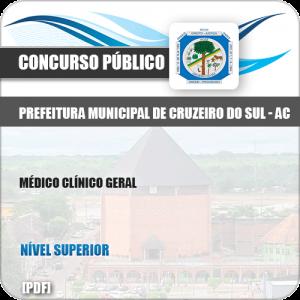 Apostila Pref Cruzeiro do Sul AC 2019 Médico Clínico Geral
