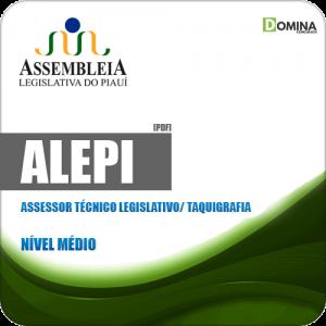 Apostila ALEPI 2020 Assessor Técnico Legislativo Taquigrafia