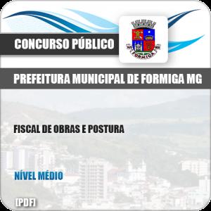 Apostila Pref Formiga MG 2019 Fiscal de Obras e Postura