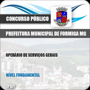 Apostila Pref Formiga MG 2019 Operário de Serviços Gerais
