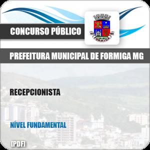Apostila Concurso Público Pref Formiga MG 2019 Recepcionista
