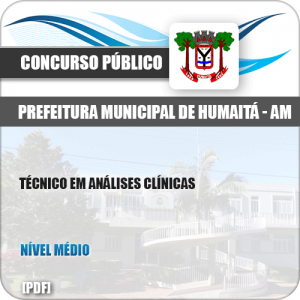 Apostila Pref Humaitá AM 2019 Técnico em Análises Clínicas