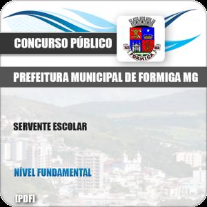 Apostila Concurso Público Pref Formiga MG 2019 Servente Escolar