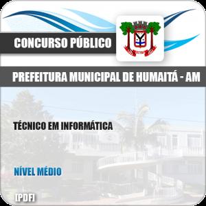 Apostila Concurso Pref Humaitá AM 2019 Técnico em Informática