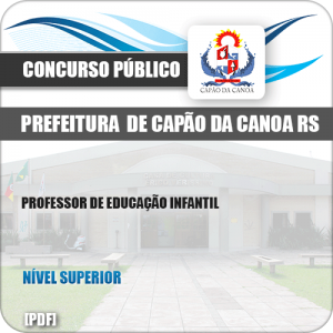 Apostila Pref Capão da Canoa RS 2019 Prof Educação Infantil