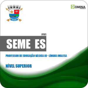Apostila SEME Vitória ES 2019 Prof Educação III Língua Inglesa