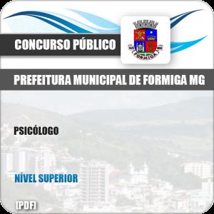 Apostila Concurso Público Pref Formiga MG 2019 Psicólogo