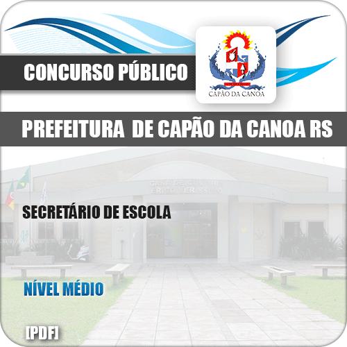 Apostila Pref Capão da Canoa RS 2019 Secretário de Escola
