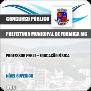 Apostila Pref Formiga MG 2019 Professor PEB II Educação Física
