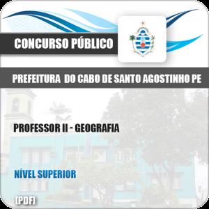 Apostila Cabo de Santo Agostinho PE 2019 Professor II Geografia