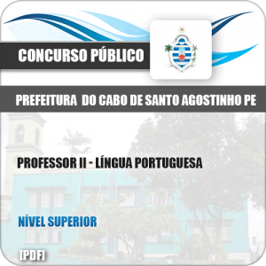 Apostila Cabo Santo Agostinho PE 2019 Prof II Língua Portuguesa