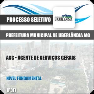 Apostila Uberlândia MG 2019 ASG Agente de Serviços Gerais