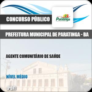 Apostila Pref Paratinga BA 2019 Agente Comunitário de Saúde