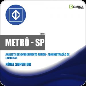 Apostila METRÔ SP 2019 Analista Administração de Empresas
