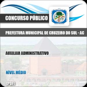 Apostila Pref Cruzeiro do Sul AC 2019 Auxiliar Administrativo