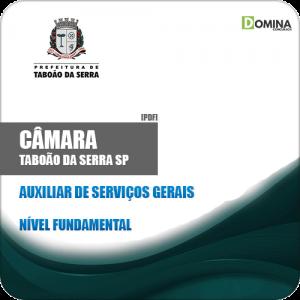 Apostila Câmara Taboão Serra SP 2019 Auxiliar de Serviços Gerais