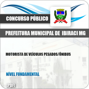 Apostila Pref Ibiraci MG 2019 Motorista Veículos Pesados Ônibus