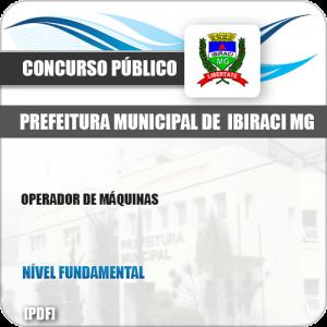 Apostila Concurso Pref Ibiraci MG 2019 Operador de Máquinas