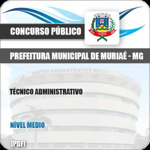 Apostila Seletivo Pref Muriaé MG 2019 Técnico Administrativo