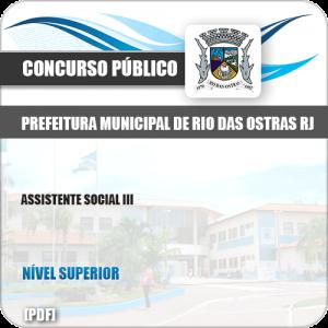 Apostila Pref Rio das Ostras RJ 2019 Assistente Social III
