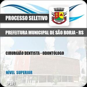 Apostila Pref São Borja RS 2019 Cirurgião Dentista Odontólogo