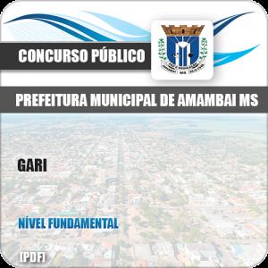 Apostila Concurso Público Pref Amambai MS 2019 Gari