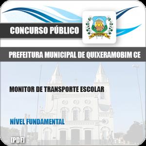 Apostila Pref Quixeramobim CE 2019 Monitor de Transporte Escolar