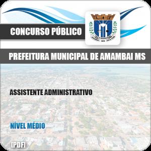 Apostila Concurso Pref Amambai MS 2019 Assistente Administrativo