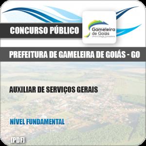 Apostila Pref Gameleira Goiás GO 2019 Auxiliar de Serviços Gerais
