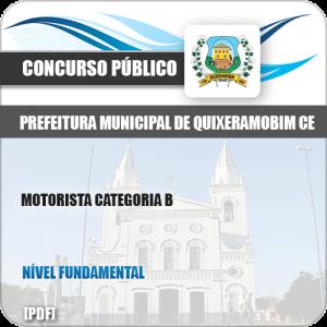 Apostila Pref Quixeramobim CE 2019 Motorista Categoria B