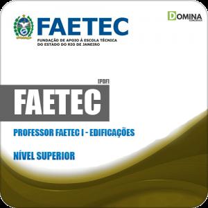 Apostila Concurso FAETEC RJ 2019 Professor FAETEC I Edificações
