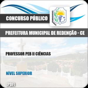 Apostila Pref de Redenção CE 2019 Professor PEB II Ciências
