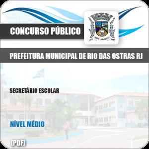 Apostila Concurso Pref Rio das Ostras RJ 2019 Secretário Escolar