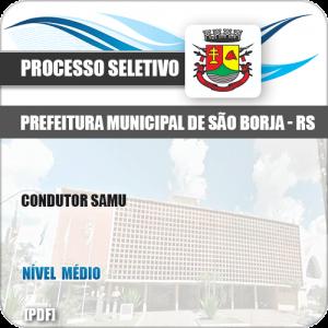 Apostila Processo Seletivo Pref São Borja RS 2019 Condutor SAMU